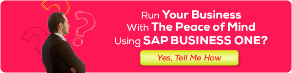 Run Your Business With The Piece of Mind Using SAP Business One