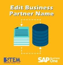 How to Edit Business Partner Name Without New Data Entry in SAP Business One - SAP Business One Tips