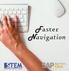 Faster Navigation in SAP Business One - SAP Business One Tips