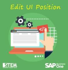 Edit UI Position in SAP Business One - SAP Business One Tips