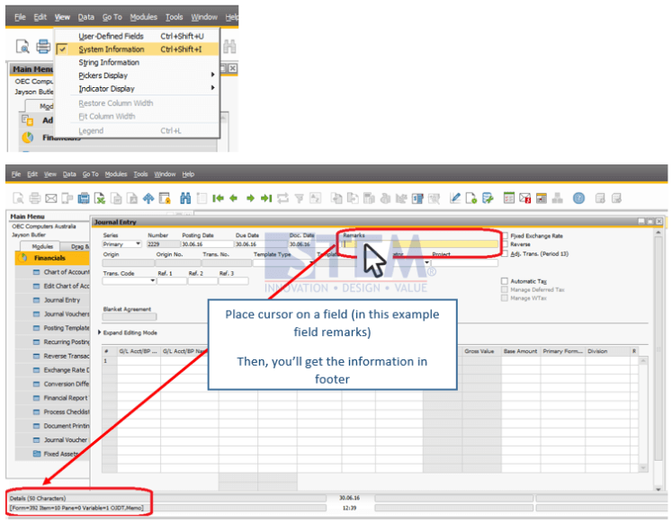 SAP Business One Indonesia Partner / View System Information