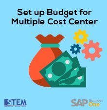 Set Up Your Budget For Multiple Cost Center in SAP Business One -SAP Business One Tips