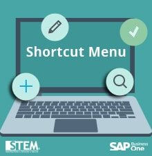 Daily User Transaction Shortcut Menu In SAP Business One Version For HANA 9.1 & Later -SAP Business One Tips