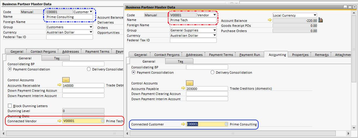 Connecting Vendor and Customer in SAP Business One