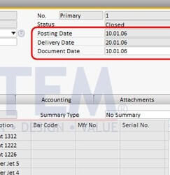Dates in SAP Business One - SAP B1 Tips