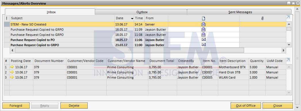 SAP Business One Tips - Using Query For Alerts - 02