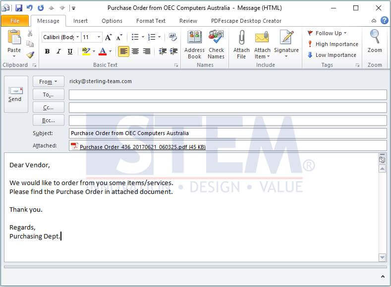 SAP_BusinessOne_Tips-STEM-Automatically Email Documents_03