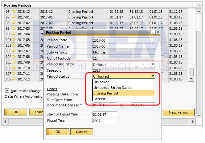 SAP_BusinessOne_Tips-STEM-Closing The Period From Any Transactions 01