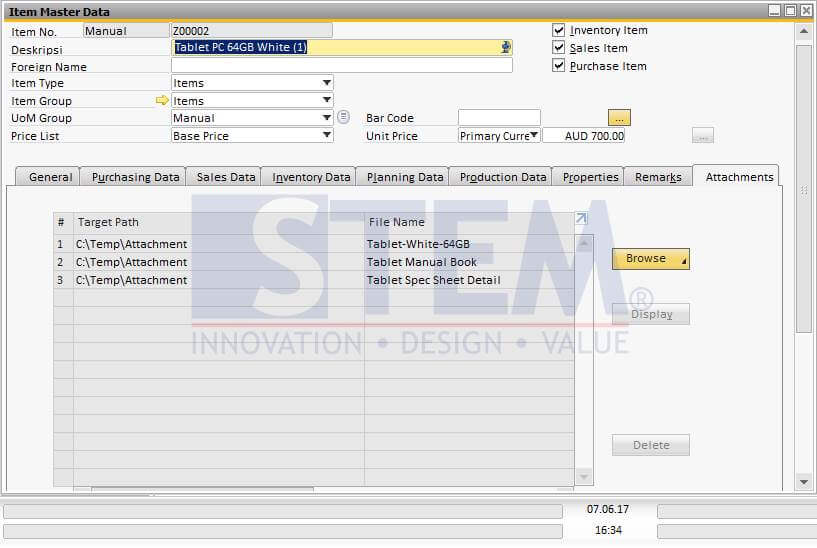 SAP Business One Tips - Product Image & Additional Information - 02