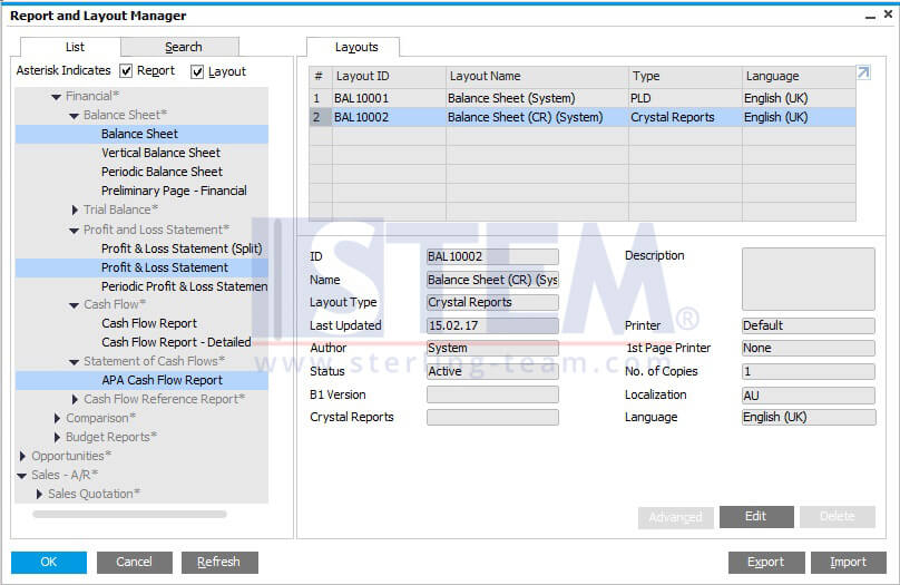SAP_BusinessOne_Tips-STEM-New Crystal Report Layout for Financial Reports_01