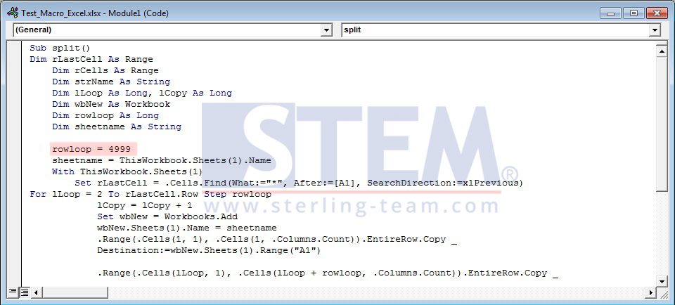 SAP_BusinessOne_Tips-STEM-Using Macro for Spliting Excel Documents_06