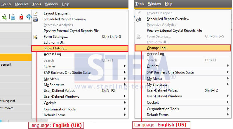 SAP_BusinessOne_Tips-STEM-Change Main Menu Name with Language Setting on SAP B1_03