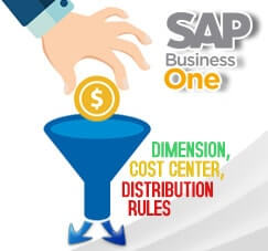 Add New Dimension, Cost Center, Distribution Rules