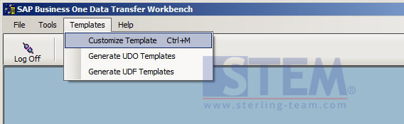 Generate a Template with Data Transfer Workbench