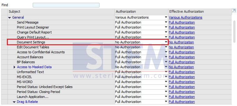 Set User Authorization for Form Setting Access on SAP Business One