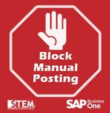 Block Manual Posting in SAP Business One - SAP Business One Tips