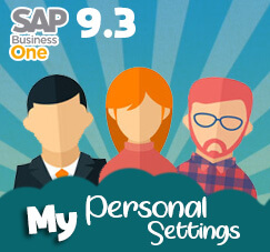 Modify Your SAP Lookout with My Personal Settings on SAP 9.3