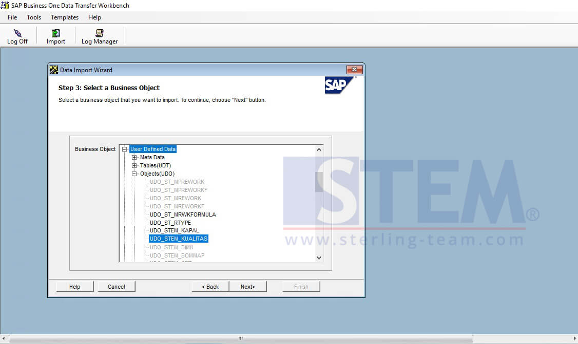 Upload or Update UDO's Data with Data Transfer Workbench