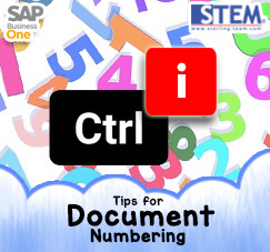 SAP Business One Tips - STEM SAP Gold Partner Indonesia - Easier Way to Add New Document Numbering
