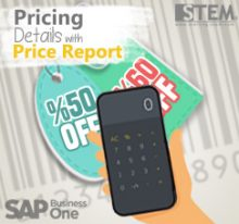 SAP Business One Tips - STEM SAP Gold Partner Indonesia - Find Your Pricing Details with Price Report