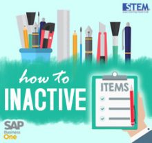 SAP Business One Tips - STEM SAP Gold Partner Indonesia - How to Set Item Master Data to Inactive on SAP Business One