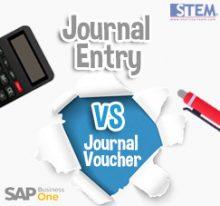SAP Business One Tips - STEM SAP Gold Partner Indonesia - Journal Entry vs Journal Voucher on SAP B1