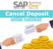 SAP Business One Tips - STEM SAP Gold Partner Indonesia - How To Cancel Deposit from Checks (Full or Partial) on SAP B1