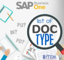 SAP Business One Tips - STEM SAP Gold Partner Indonesia - List of Document Type on SAP Business One