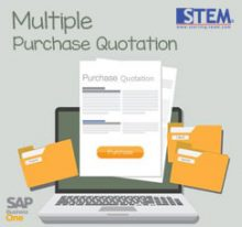 SAP Business One Tips - STEM SAP Gold Partner Indonesia - Create Multiple Purchase Quotations for Multiple Vendor and Items on SAP B1