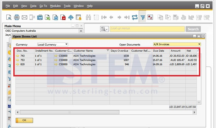 SAP Business One Tips - STEM SAP Gold Partner Indonesia - Using Filter Method on SAP B1