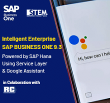 SAP Business One Tips - STEM SAP Gold Partner Indonesia - Intelligent Enterprise SAP Business One 9.3 Powered by SAP Hana Using Service Layer & Google Assistant
