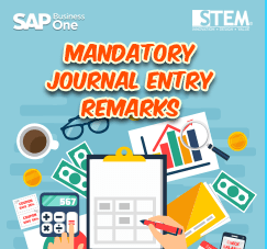 SAP Business One Tips -STEM SAP Gold Partner Indonesia - Mandatory Journal Entry Remarks
