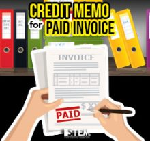 Create Credit Memo for Paid Invoice