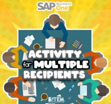 SAP Business One Tips - STEM SAP Gold Partner Indonesia Setup Activity for Multiple Recipients on SAP B1