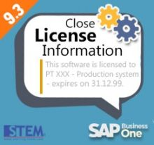SAP Business One Tips - STEM SAP Gold Partner Indonesia - How to Close License Information Pop Up on Your Screen