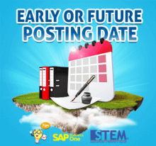 SAP Business One Tips Early or Future Posting Date