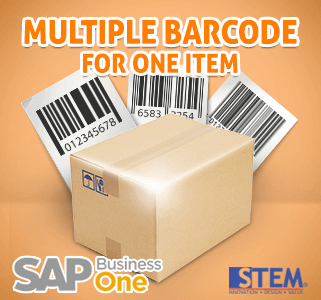 SAP Business One Tips - Multiple Barcode for One Item