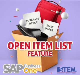 Open Item List | SAP Business One Indonesia Tips | STEM SAP