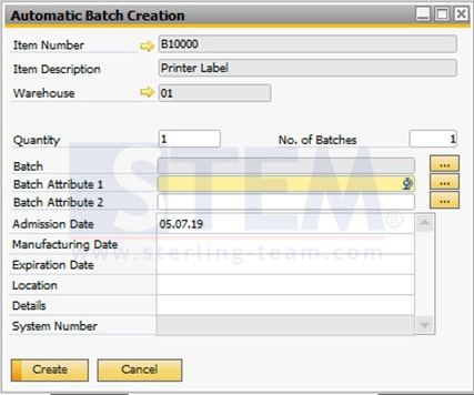 SAP_Business_One_Tips-STEM-How to Set Automatically Create Batch Numbers on SAP B1