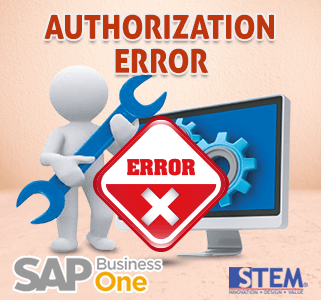 SAP Business One Tips Authorization Error
