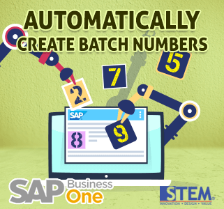 SAP Business One Tips Automatically Create Batch Number
