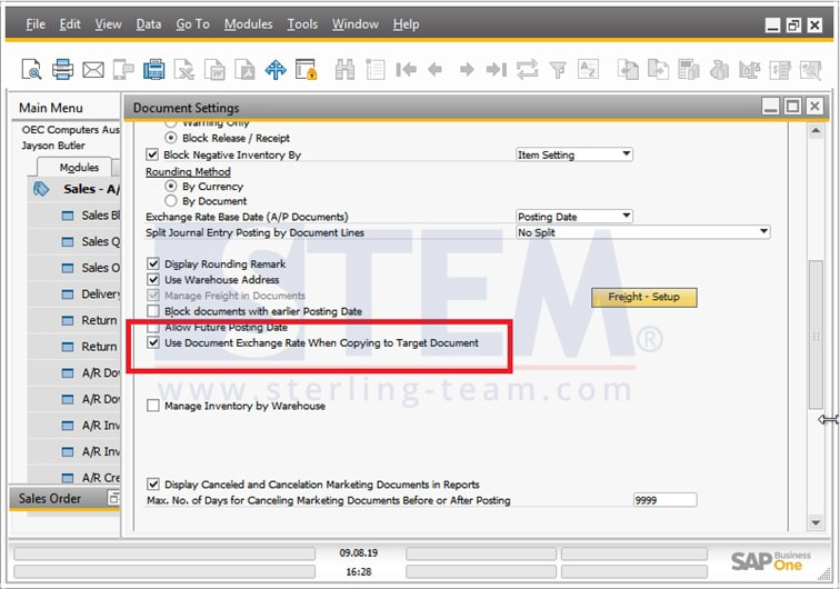 SAP_Business_One_Tips-Using Base Document Exchange Rate on Target Documenton SAP B1_01