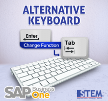 SAP Business One Tips Alternative Keyboard