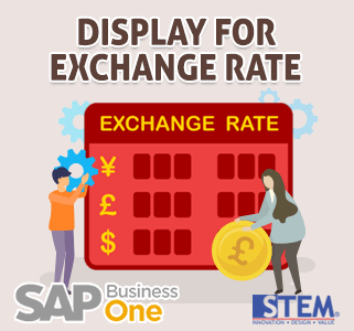 SAP Business One Tips Display Exchange Rate