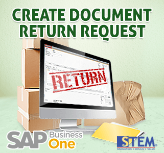 SAP Business One Tips Create Return Request