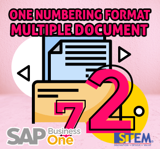 SAP Business One Tips One Numbering Documents