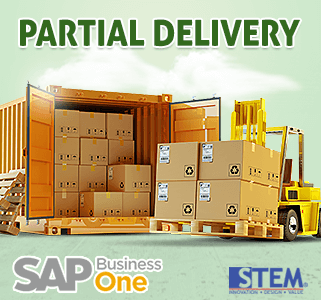 SAP Business One Tips Partial Delivery