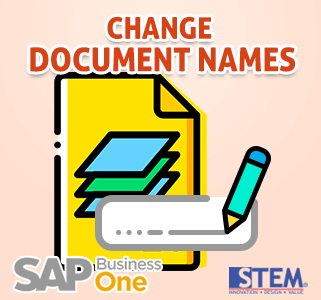 SAP Business One Tips Change Document Name