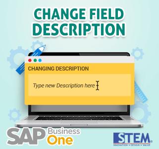 SAP Business One Tips Change Field Description