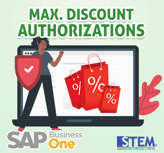 SAP Business One Tips Max Discount Authorization